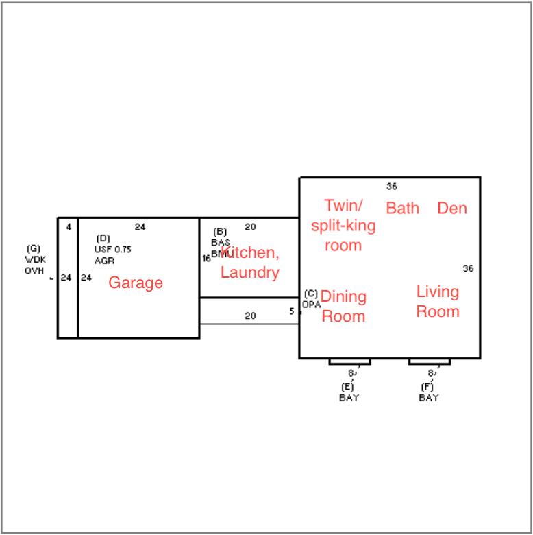 Floor Plan for Sea Turn - 1 Minute Walk to Nauset Beach